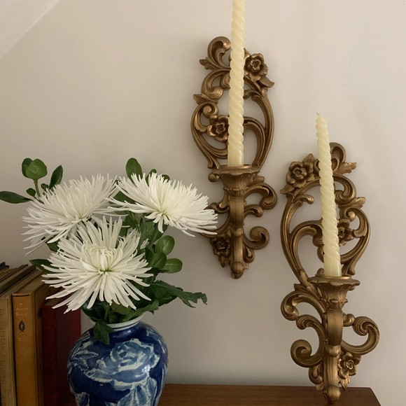 Vintage Homco Wall-mounted Candleholders